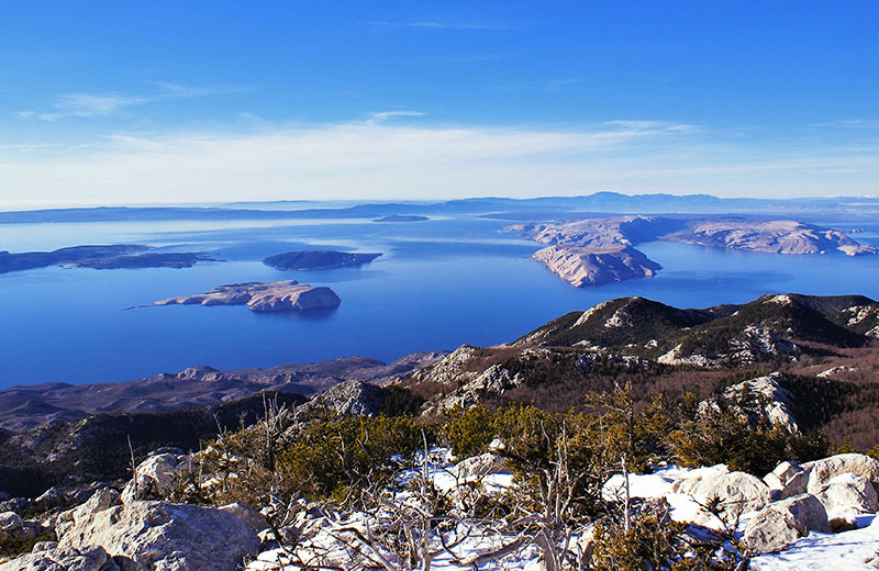 Pogled na more sa Sjevernog Velebita