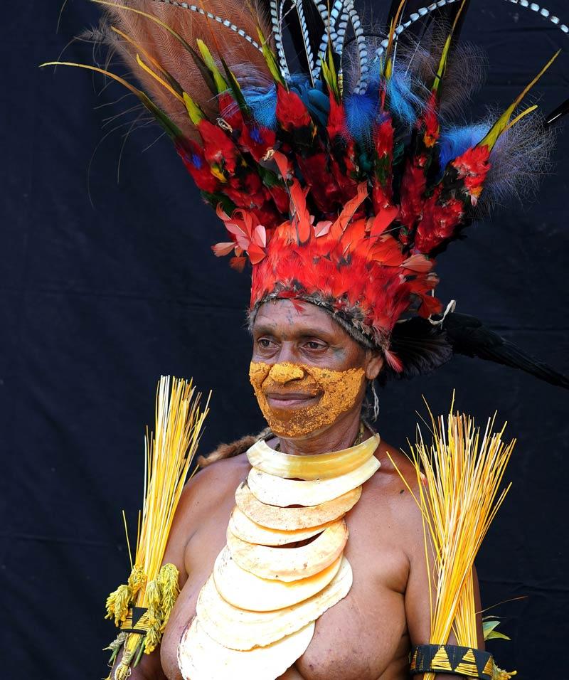 Žena u Huli plemenu